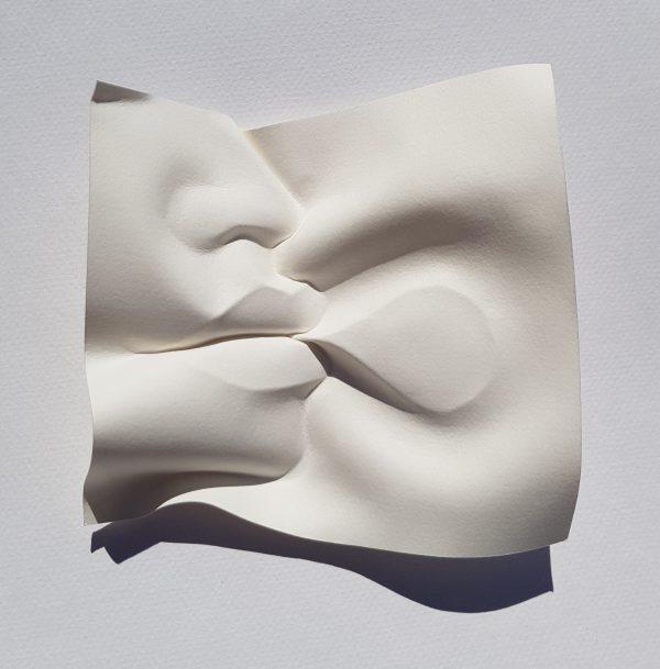 Speech bubble paper fold