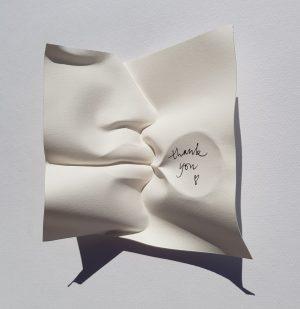 Thank you paper portrait